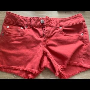 Women's American Eagle Coral Denim Shorts Size M
